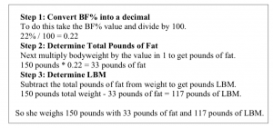 Body Composition Calculation 1