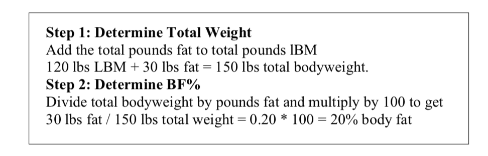 Body Composition Calculation 2