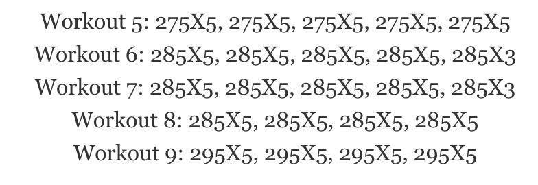 5x5 Decreasing Set Example