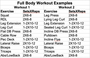 Full Body Workout Examples
