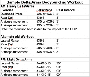 Two a Day Delts Arms Workout
