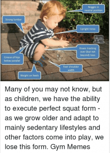 Baby Full Squatting Gym Meme