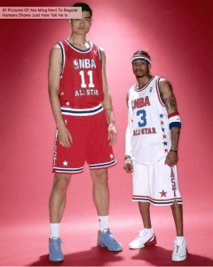 Yao Ming is a Giant