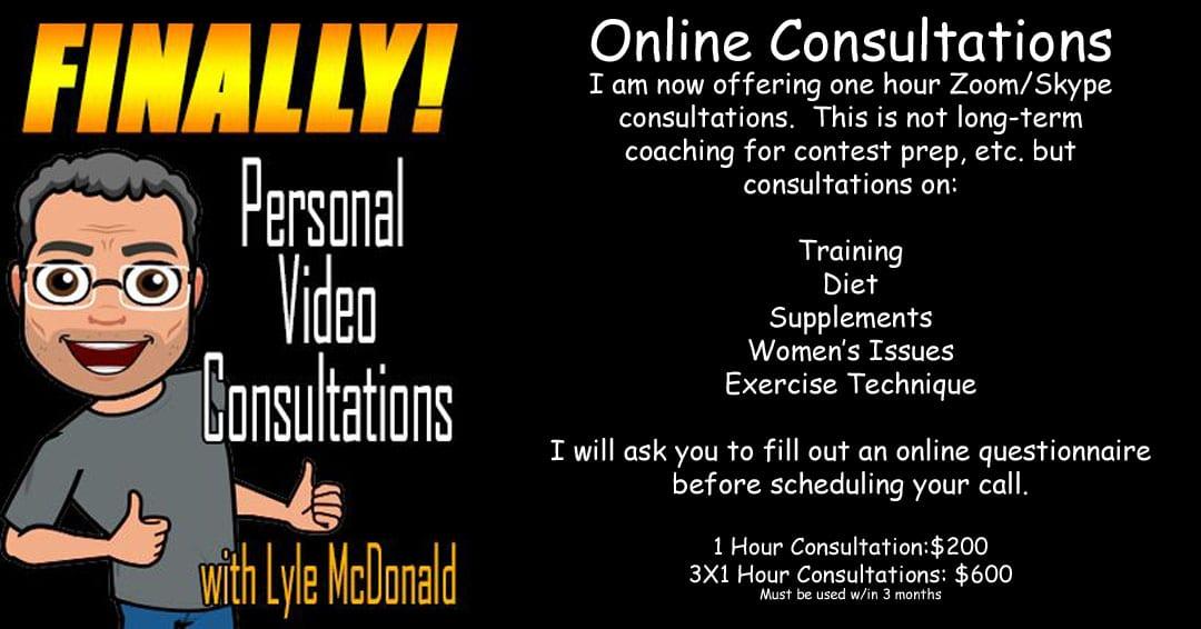 Lyle McDonald Online Consultations