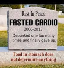 Rest in Peace Fasted Cardio