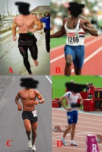 Sprinter Versus Endurance Athlete Collage